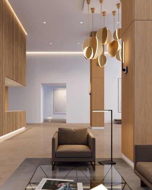 Bau 18, 28 and 36 Pendant, Natural Brass