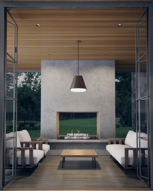 Bowman 18 Outdoor Pendant Details Tech Lighting