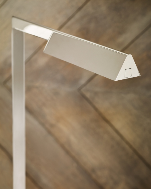 Dessau 38 Floor Lamp  Polished Nickel