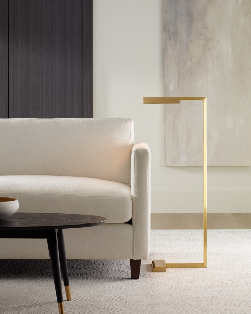 Dessau 38 Floor Lamp Natural Brass