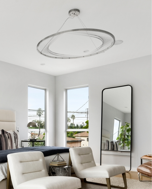 Interlace 45 Suspension, Satin Nickel