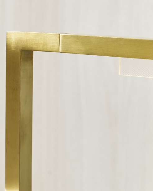 Klee 43 Floor Lamp Natural Brass