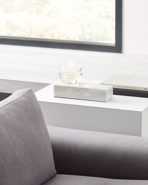 Mina Table Lamp White Marble