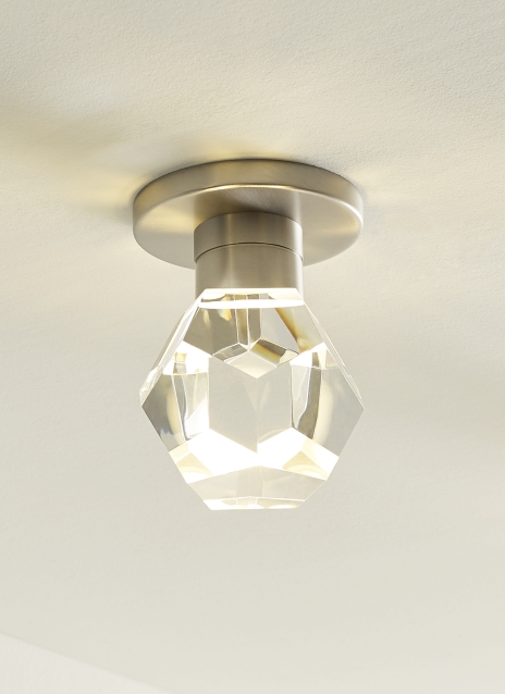 Faceted Crystal Satin Nickel