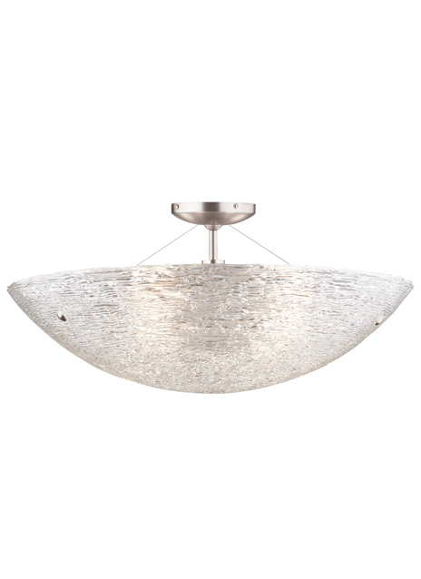 Trace Large Semi-Flush Mount