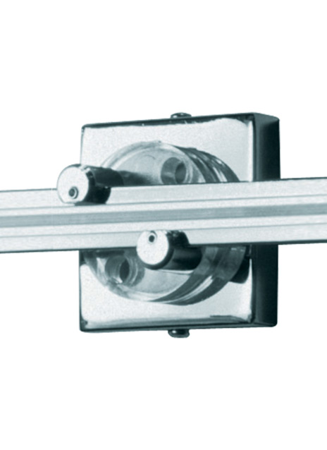 "Wall MonoRail 2"" Square Power Feed Canopy Single-Feed"