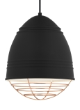 Rubberized Black w/ White Interior<br>Copper Cage