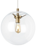Clear / Aged Brass<br>Incandescent